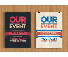 Flyer Design Examples Our Event Flyer Template Modern Clean And Minimal Poster