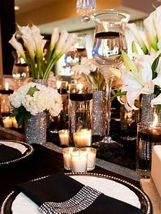 46 cool black and white wedding centerpieces happywedd
