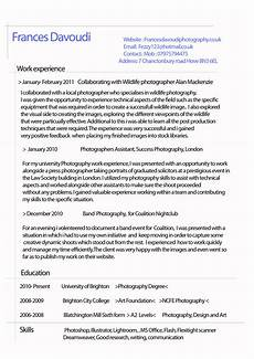 Good Cv Examples Of Good And Bad Cv S Fezzyscreativeworld S Blog