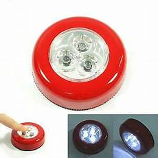 Small Stick On Lights Mini 3 Led Cordless Battery Powered Stick Tap Touch Lamp