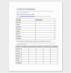 Social Media Strategy Outline Social Media Strategy Outline Template 7 Samples For