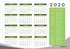 2020 Calendar Printable With Holidays 2020 Yearly Holidays Calendar Printable Calendar