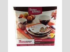 Dishes Better Homes Gardens Floral Spray 16 Piece Square