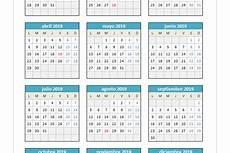 Calendario 2020 Xls Plantillas De Excel De Calendarios 2019 Planillaexcel Com