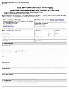 Security Guard Template Security Officer Incident Report Templates At