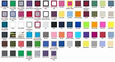 Anvil 980 Color Chart Fabric Swatches Shirt Outfitters