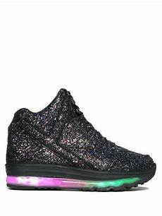 Holographic Light Up Shoes Qozmo Aiire Black Glitter Light Up Rave Shoes Light