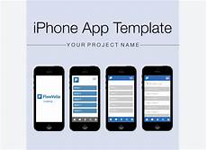 Iphone Apps Design Templates Iphone App Template On Flowvella Presentation Software