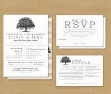 Wedding Invitations And Response Cards Tree Roots Wedding Invitation And Rsvp Card By Henandco