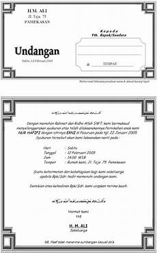 contoh undangan syukuran download contoh isi undangan