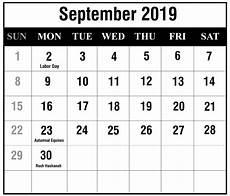 Free Printable September Calendar Free September 2019 Blank Printable Calendar Pdf Excel