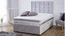 crushed velvet bed frame in all sizes storage option 3ft