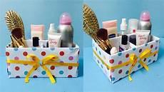 diy makeup organizer box cardboard cosmetic box