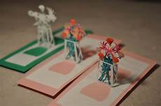 pop up card template flowers flower bouquet pop up card template