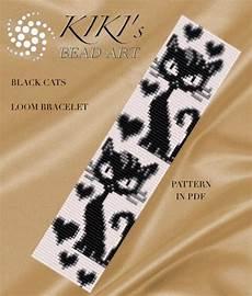 beadwork cat bead loom pattern black cats loom bracelet pattern in pdf