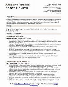 Automotive Technician Resume Automotive Technician Resume Samples Qwikresume