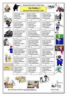 Job Club Activities Job Riddles 1 Easy Worksheet Free Esl Printable