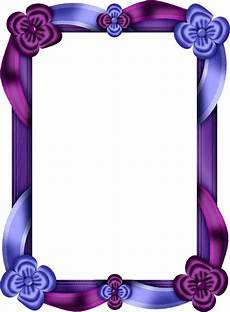 purple and blue transparent photo frame frame border