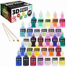 colors 30 color 3d fabric paint set kit shiny
