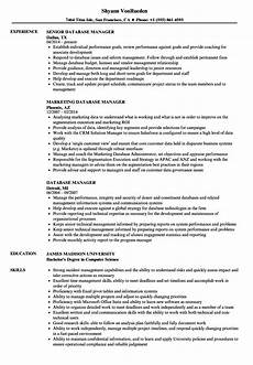 Database Management Resume Database Manager Resume Samples Velvet Jobs