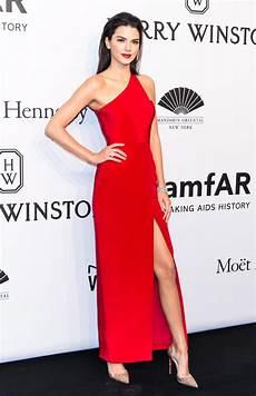 kendall jenner one shoulder evening dress 2015 amfar