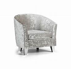 modern crushed velvet tub chair armchair bedroom living