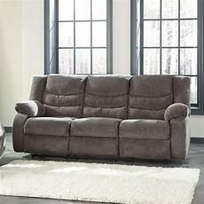 Signature Design By Tulen Gray Reclining Sofa And Loveseat Tulen Gray Reclining Sofa By Signature Design By