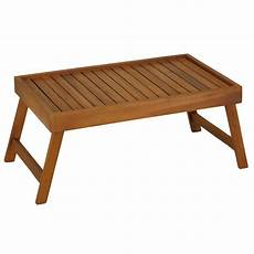 bare decor coco bed tray table in solid teak wood ebay