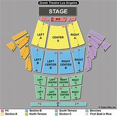 Greek Theater Chart Center Section A Row J Vip Seats Intocable Greek