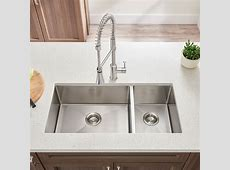 Pekoe 35x18 inch Offset Double Bowl Kitchen Sink   American Standard