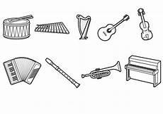 Malvorlagen Instrumente Kostenlose Malvorlage Musik Musikinstrumente Ausmalen Zum