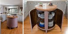 8 Exles Of Kitchens With Movable Islands That Make It Small Circular Movable Kitchen Island Table