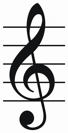 Clef Music Lesson Staff Treble Clef Bass Clef Grand Staff And
