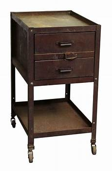 two drawer metal cabinet with wheels olde things