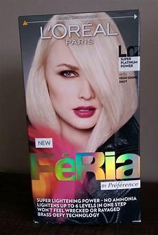 Feria Hair Colour Chart L Oreal Feria Colour Super Platinum L02 30somethingmel