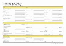 Travel Itinerary Samples Free Printable Travel Itinerary The Organised Housewife
