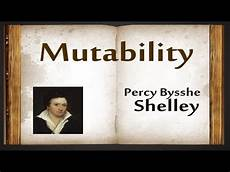 Mutability By Percy Bysshe Shelley Poetry Reading Youtube
