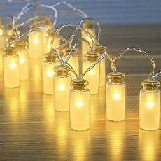 Fairy Lights In Glass Cylinder 8 Modes Glass Jar Led Fairy Lights With 20ed Warm White