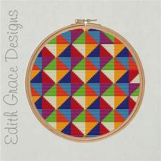 geometric embroidery pattern