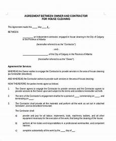 Commercial Cleaning Contract Sample Free 13 Sample Cleaning Contract Agreement Templates In