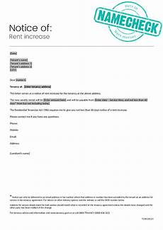 Increase Rent Notice 2020 Rent Increase Letter Fillable Printable Pdf