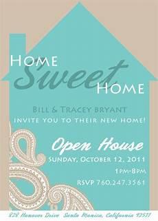 At Home Invitation Paisley Home Sweet Home Housewarming Invitation