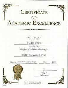 Academic Award Certificate Academic Certificate Template Certificatetemplateword Com