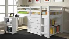 bedroom bunk beds with desk underneath for children