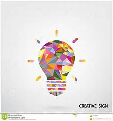 Colorful Poster Ideas Colorful Creative Light Bulb Sign Stock Vector