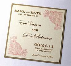 Wedding Save The Date Invitations Vintage Wedding Save The Date Sample By Embellishedpaperie