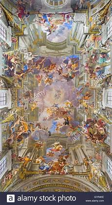 rome italy march 10 2016 the vault baroque fresco the