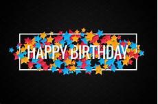 Colorful Happy Birthday Banner Happy Birthday Banner Background Illustrations