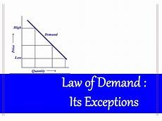 Law Of Demand Law Of Demand And Its Exceptions