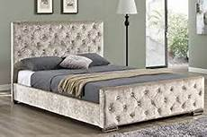 tufted chagne upholstered bed frame luxury home